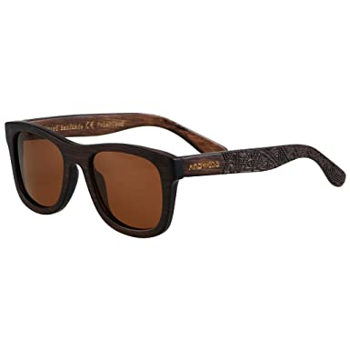 8d4d84d21749c Bamboo Sunglasses Floating For Men Women Wood Sunglass Wooden Frame  Polarized Vintage Black Blue Brown ANDWOOD