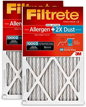 Filtrete AD00PL 2PK 6E Allergen Uncompromised Airflow