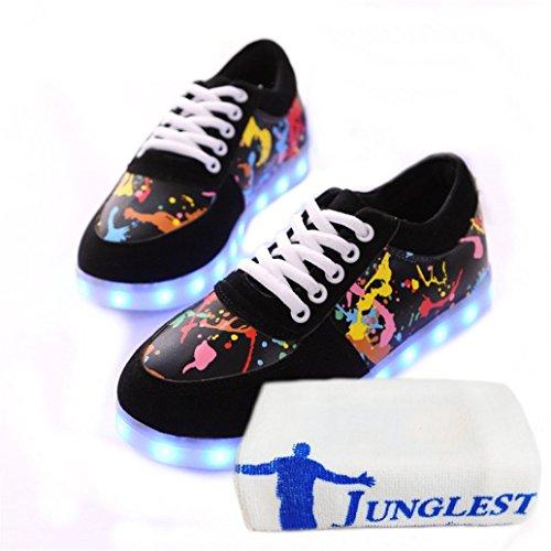 [Present:kleines Handtuch]JUNGLEST® 7 Farben LED Kinder, Jungen, Mädchen führte leuchten Trainer Sneakers Turnschuhe Sportschuh c25