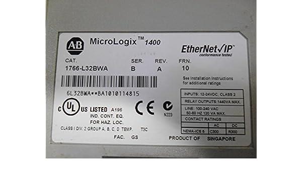 Allen Bradley 1766 L32bwa Allen Bradley Micrologix 1400 Plc Amazon