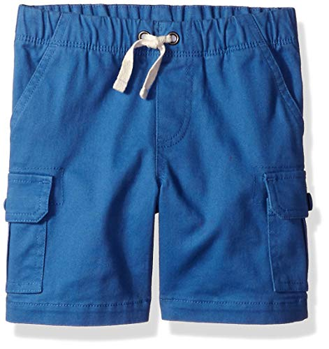 Amazon Essentials Little Boys' Cargo Short, Cobalt Blue, X-Small / 4-5 (Boys Shorts Size 5)
