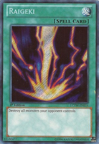 Yu-Gi-Oh! - Raigeki (LCYW-EN054) - Legendary Collection 3: Yugi's World - 1st Edition - Secret Rare by Yu-Gi-Oh!