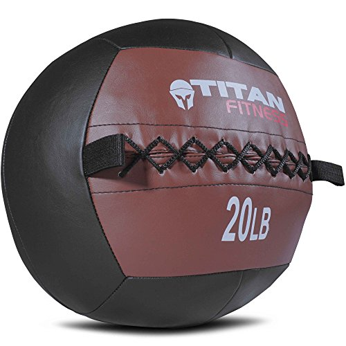 Titan 20 lb Wall Medicine Ball Core Workout Cardio Muscle Exercises Strength WOD (Gym Medicine Ball)