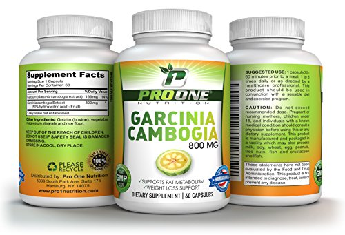 Pure Garcinia Cambogia 800MG by ProOne Nutrition. Add Garcinia to lose weight quickly and fast to diet, Increase Energy, improve Cholesterol, Stabilize Blood Sugar Levels and have a More Positive Mood by Pro One Nutrition (Image #2)