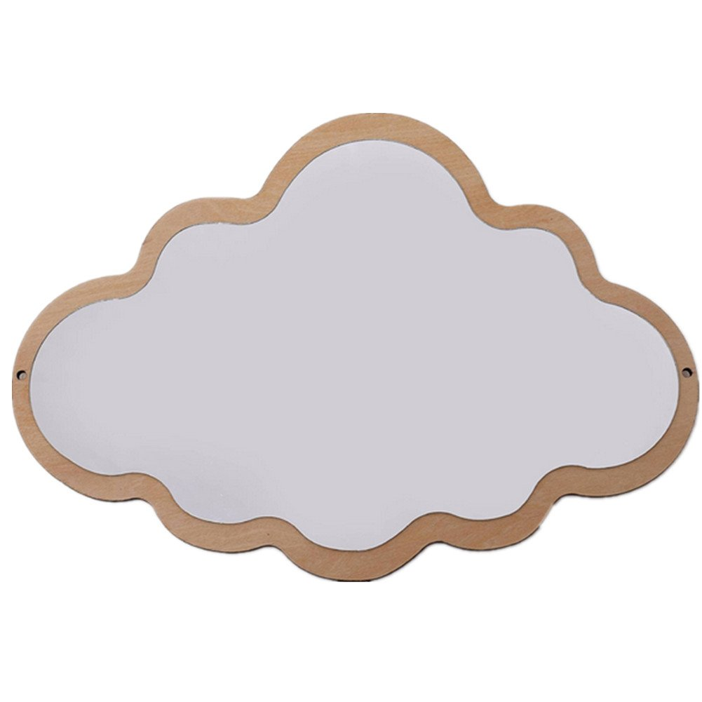 newEmergingstyle Wall Decor for Baby Room Kid's Bedroom Mirror Decoration Bunny Cloud Wall Mirrors (Cloud,with Butterfly Gift)
