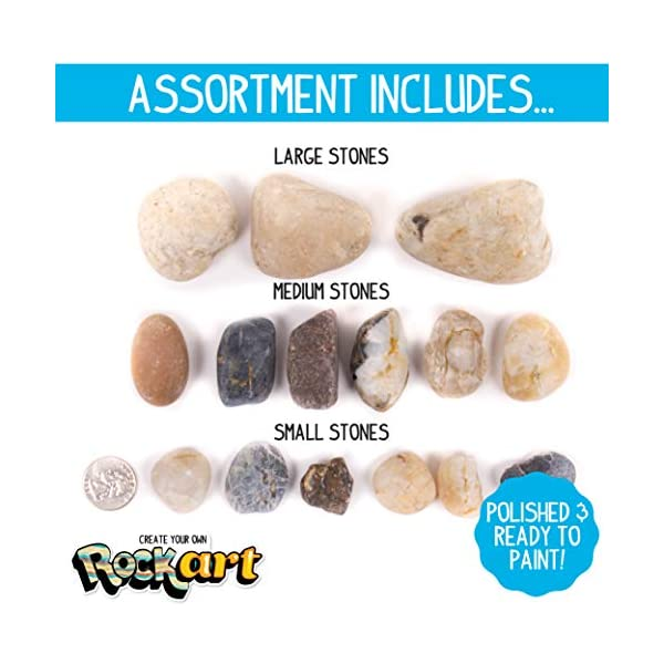 Made-By-Me-Rock-Art-Kit-by-Horizon-Group-USA-Rock-Painting-Arts-and-Crafts-Kit-Includes-3-Pounds-of-Rocks-and-12-Colors-of-Paint
