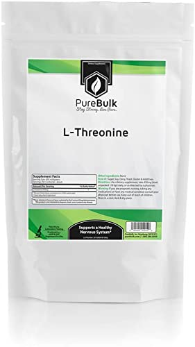 PureBulk L-Threonine Container Bag Size 500g Powder