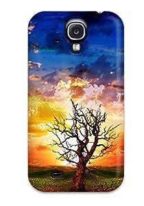New Premium Flip Case Cover Moving Desktop S Skin Case For Galaxy S4