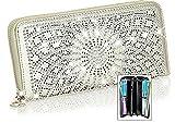 Zzfab Sparkle Wallet Matching Starburst Rhinestone Wallet for Sparkle Purse Gold