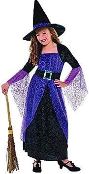 Amscan - Disfraz de Bruja para niña, Talla 8 - 9 años (997723 ...