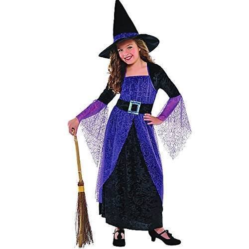 Costume Girls Uk Witch (Fancy Dress - Pretty Potion Witch Costume GIRLS AGE 8-10 - AMS997723 -)