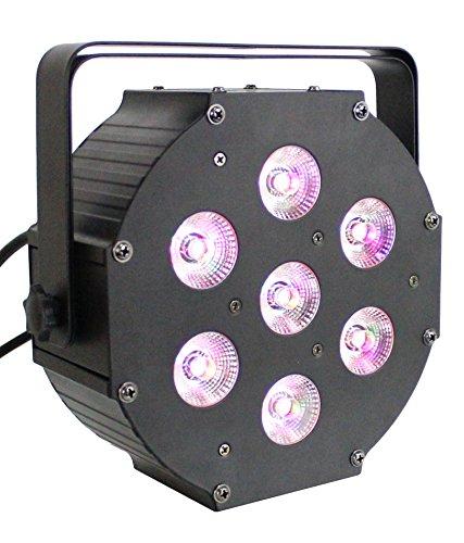 Artic FLATPAR6UV LED DJ Flat Par RGBAW Plus UV 6-in-1 Color Mixing Light by ARTIC