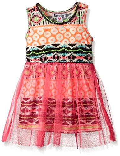 kensie Girls' Tank Dress (More Styles Available), 1017-Multi, (Crinkle Tank Dress)