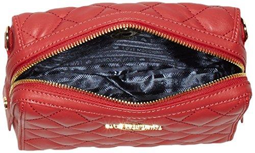 Love Moschino - Borsa Nappa Pu Trapuntata Rosso, Shoppers y bolsos de hombro Mujer, Rot (Red), 15x20x7 cm (W x H D)