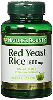 Nature's Bounty Red Yeast Rice 600mg, 120 Capsules - Pack of 2