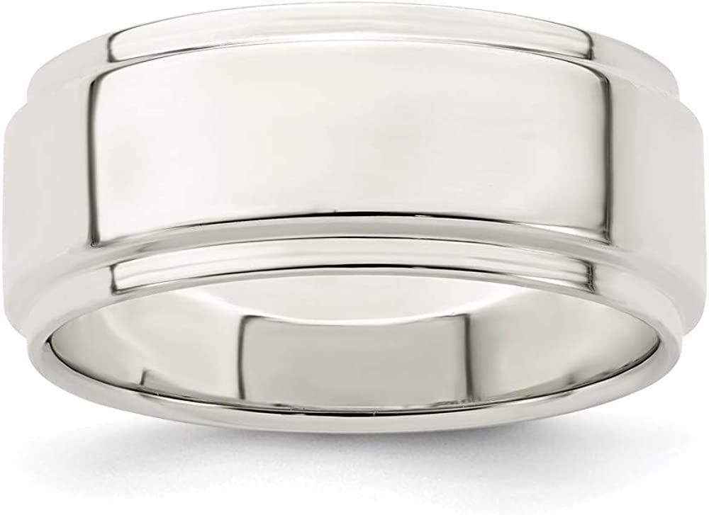 Full /& Half Sizes 925 Sterling Silver 5mm Bevel Edge Wedding Ring Band Available in Sizes 4-13