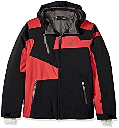 Spyder Boy's Rival Ski Jacket, Blackredpolar, Size 12