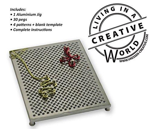 Silver 14 x 12 x 1,8 cm Aluminium Deluxe Kit Vaessen Creative Alu Deco Thing-A-Ma Jig
