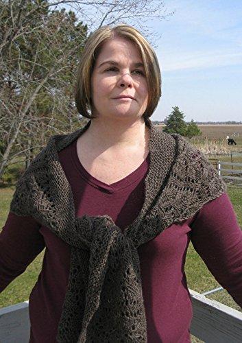 Hand knit Lace Alpaca shawl by North Star Alpacas
