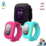 Hangang Children Smart Watch Kids Wrist Watch with Anti-Lost GPS Finder Tracker SOS