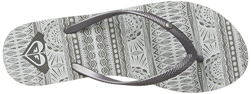 Femme Bermuda Gris White Grey Roxy Tongs g48qwa7