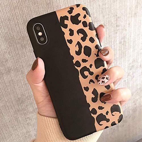 Topwin Leopard iPhone Xs Max Case, Soft Flexible TPU Classic Luxury Fashion Leopard Print Chic Cheetah Ultra Slim Lightweihgt Rubber Floral Case for Apple iPhone Xs Max 6.5 (Black)