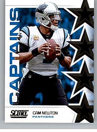 premium selection fed38 3f0c2 Amazon.com: 2019 Score NFL Captains #5 Cam Newton Carolina ...