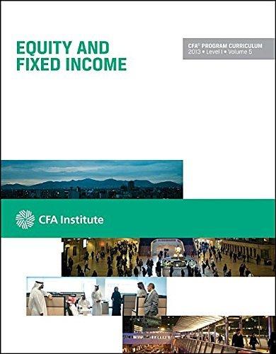 CFA Program Curriculum, Level I by CFA Institute (2013-08-02)