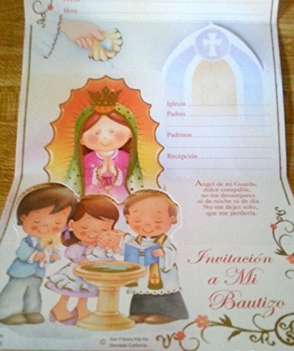 amazon com baptism bautizo christening party invitations spanish