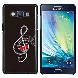 TECHCASE---Cubierta de la caja de protección para la piel dura ** Samsung Galaxy A5 ( A5000 ) 2014 Version ** --Nota musical