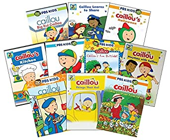 Pbs Kids Halloween Dvd.Amazon Com Ultimate Pbs Caillou Learning Dvd Collection Big Kid