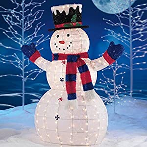 5ft 1 5m led glittering pattern snowman with 210 led for Decoration led exterieur