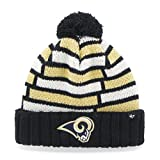 NFL St. Louis Rams '47 Breakout Cuff Knit Hat with Pom, One Size Fits Most, Navy
