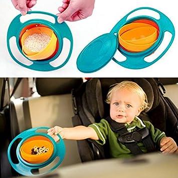 kein verschütten GYRO BOWL Babyschüssel dreht sich um 360° Kinder Snackschüssel