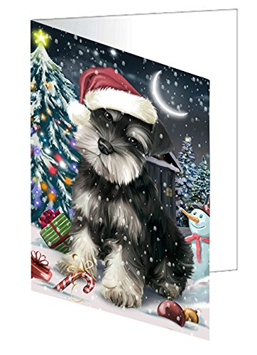 Have a Holly Jolly Christmas Happy Holidays Schnauzer Dog Greeting Card GCD2620 (10)