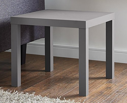 Laminate Occasional End Table - DHP Parsons Modern End Table, Gray