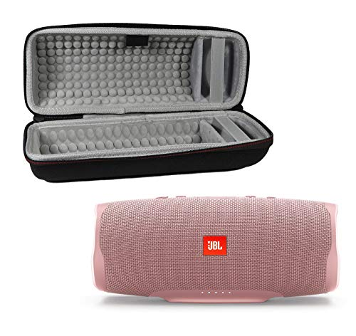 JBL Charge 4 Waterproof Wireless Bluetooth Speaker Bundle with Portable Hard Case – Pink
