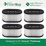 4 Hoover Foldaway and WidePath Filters. Designed by FilterBuy to Replace Hoover Part # 40130050.