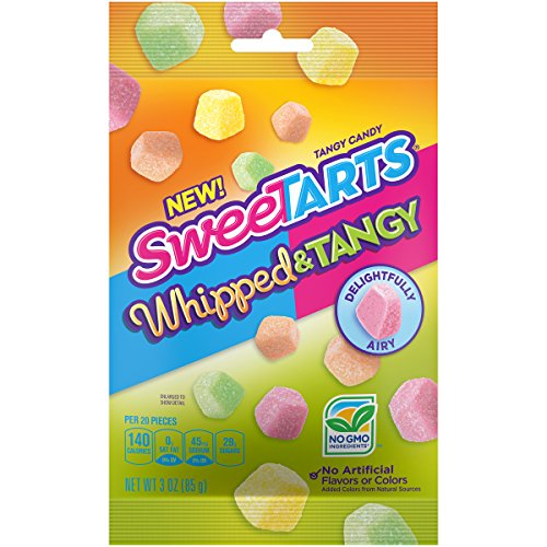 SweeTARTS Whipped & Tangy Candy 3 Ounce  Bag, 12 Count