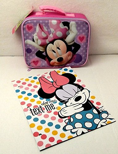 [Disney Mickey Mouse Clubhouse: Mickey Minnie Boutique Insulated Lunch Bag Spiral Notebook Elementary Junior High Backpack Middle] (Disney Junior Pj Masks Costumes)