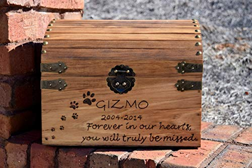 Large Pet Memory Keepsake Box - Pet Memorial - Memory Chest - Pet Memory Box - Custom Pet Memory Chest - Memory Box