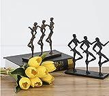 Cold cast iron hand dance 'sculpture after modern metal ornaments desktop art soft zj0201511 ( Size : Black )