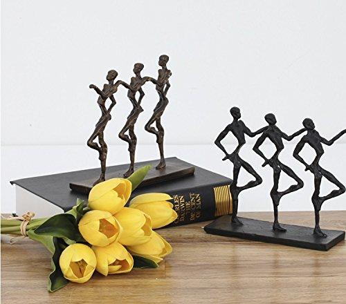 Cold cast iron hand dance 'sculpture after modern metal ornaments desktop art soft zj0201511 ( Size : Black ) by Supper PP