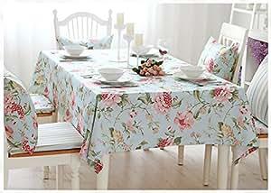 Impresión Flor Europea país estilo lino y algodón funda para mesa