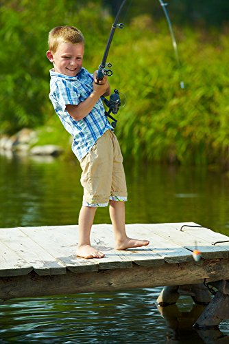 Fishing Gear Plus for Kids Telescopic Fishing pole set with float and hooks- not a toy- its the reel thing