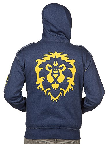 JINX World of Warcraft Champion of The Alliance Men's Gamer Zip-Up Hoodie