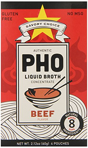Savory Choice Pho Liquid Broth Concentrate, Beef, 2.2 Ounce (Pack of (Liquid Phos)