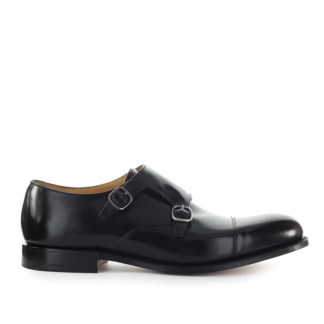 - Church& 039;s Herren EOB0159XVF0AAB SchwarzLeder Monk-Schuhe