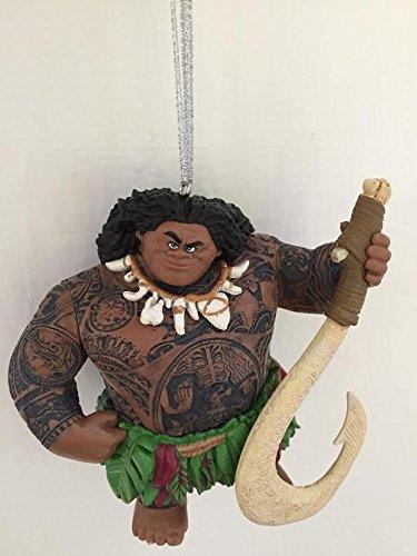 Amazon.com: Disney Moana Maui Demigod Holiday Christmas Tree Ornament PVC  Figure 4.5