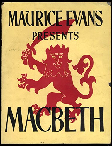 Maurice Evans Presents Macbeth program Judith Anderson 1941 original cast